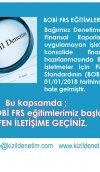 BOBİ FRS EĞİTİMLERİMİZ BAŞLAMIŞTIR...